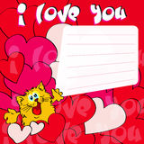 Greeting card I love you Stock Photography