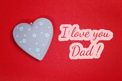 Greeting card - i love you dad Royalty Free Stock Images