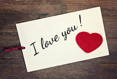 Greeting card i love you Royalty Free Stock Images