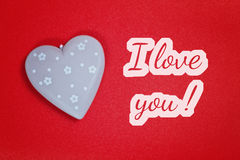 Greeting card - i love you Stock Photo
