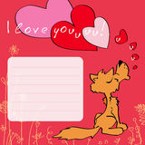 Greeting card I love you Royalty Free Stock Photography