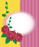 Greeting card - illustration of pink roses Royalty Free Stock Photography