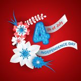 Greeting card for Independence Day. Of United States of America vector illustration
