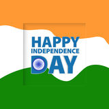 Greeting card. Independence Day of India Royalty Free Stock Photos