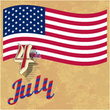Greeting card for Independence Day. Stock Photography