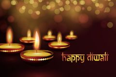 Beautiful greeting card for Hindu community festival Diwali Happy diwali festival background illustration. Greeting card for Indian Deepavali Hindu festival Royalty Free Stock Image