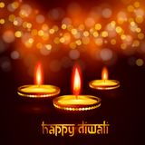 Beautiful greeting card for Hindu community festival Diwali Happy diwali festival background illustration. Greeting card for Indian Deepavali Hindu festival Royalty Free Stock Photo