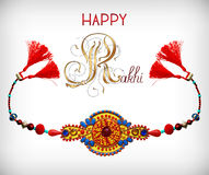 Greeting card for indian festive sisters and Royalty Free Stock Images