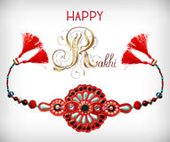 Greeting card for indian festive sisters and Stock Photography