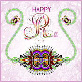 Greeting card for indian festive sisters and Stock Images