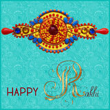 Greeting card for indian festive sisters and Stock Photos