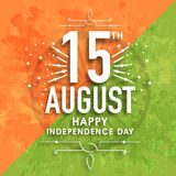 Greeting card for Indian Independence Day. Stock Photography