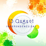 Greeting Card for Indian Independence Day. Elegant Greeting Card with abstract design for 15 August, Happy Indian Independence Day celebration Stock Photos