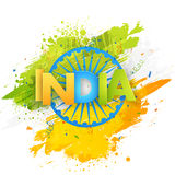 Greeting card for Indian Independence Day. Stock Image