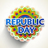 Greeting card for Indian Republic Day celebration. Royalty Free Stock Photography