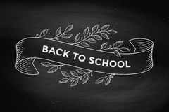 Greeting card with inscription Back to School royalty free illustration