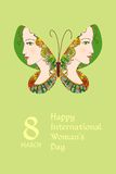 Greeting card with International woman's day. Stock Images