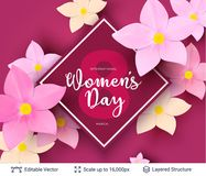 Greeting card for International Women`s Day. Stock Photography