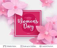 Greeting card for International Women`s Day. Royalty Free Stock Photo