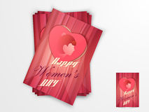 Greeting card for International Womens Day celebration. Royalty Free Stock Photography