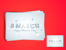 Greeting card for International Womens Day celebration. Royalty Free Stock Photos