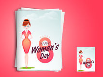 Greeting card for International Women's Day celebration. Stock Images