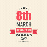 Greeting card for International Women's Day celebration. Royalty Free Stock Photo