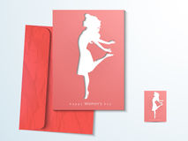 Greeting card for International Womens Day celebration. Royalty Free Stock Photo