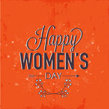 Greeting card for International Women's Day celebration. Stock Photography