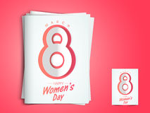 Greeting card for International Women's Day celebration. Royalty Free Stock Photos