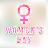Greeting card for International Women's Day celebration. Stock Photo