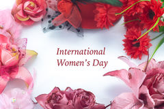 Greeting card for international women's day. Royalty Free Stock Photos