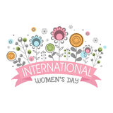 Greeting card for International Women's Day. Stock Photos