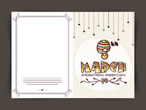 Greeting card for International Women's Day. Royalty Free Stock Image