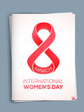 Greeting card for International Women's Day. Royalty Free Stock Photo