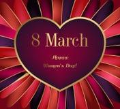 Greeting Card International Women`s Day. Royalty Free Stock Photos
