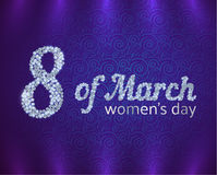 Greeting Card On International Womens Day Royalty Free Stock Images