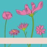 Greeting Card or Invitation. Fully editable decorative  illustration (easy editing Royalty Free Stock Photos
