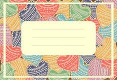 Greeting card. Invitation card. Vector illustration royalty free illustration