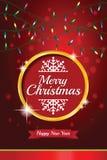 Christmas light vector background. Stock Photos