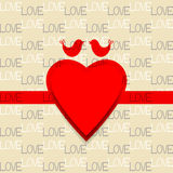 Greeting card. Invitation or greeting card with a heart and a place for your text Stock Photo