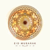 Greeting card for Islamic holy festival Eid celebration. Stock Images
