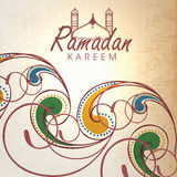 Greeting card for Islamic holy month Ramadan Kareem celebration. Stock Images