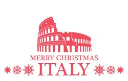 Greeting Card. Italy vector illustration