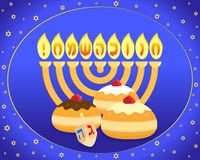 Jewish holiday of Hanukkah vector illustration