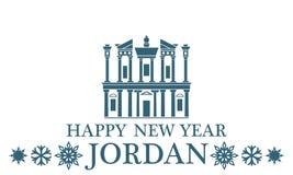 Greeting Card. Jordan. Vector Illustration. illustration EPS Stock Photos