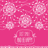 Greeting card Just smile and be happy Royalty Free Stock Photos