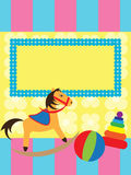 Greeting card for kids Royalty Free Stock Images
