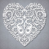 Greeting card with lacy heart Royalty Free Stock Images