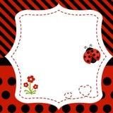Greeting card with ladybug. Stock Photography